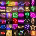 Wholesale LED Neon Night Light Sign Wall Art Sign Night Lamp Xmas Birthday Gift Wedding Party Wall Hanging Neon Lamp Home Decor