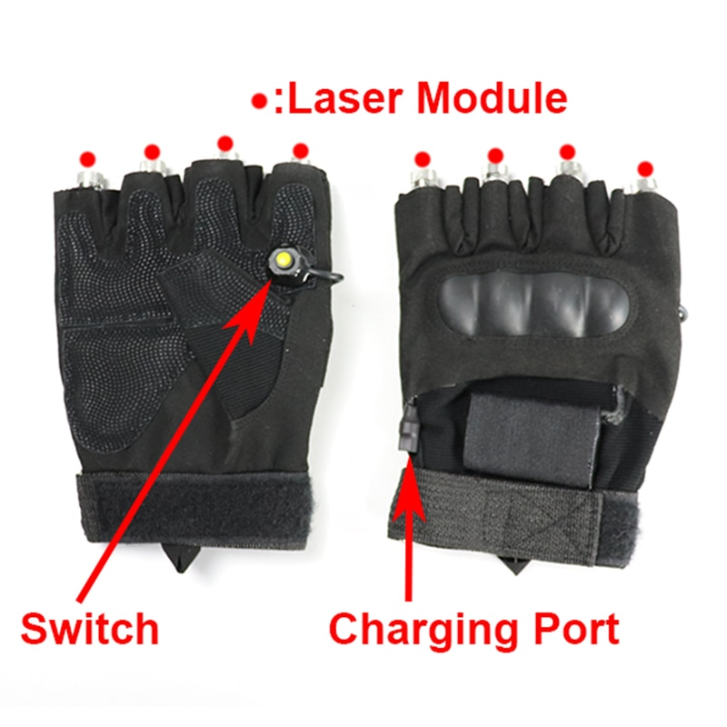 New High Quality 2 in 1 Red Green Laser Gloves 6