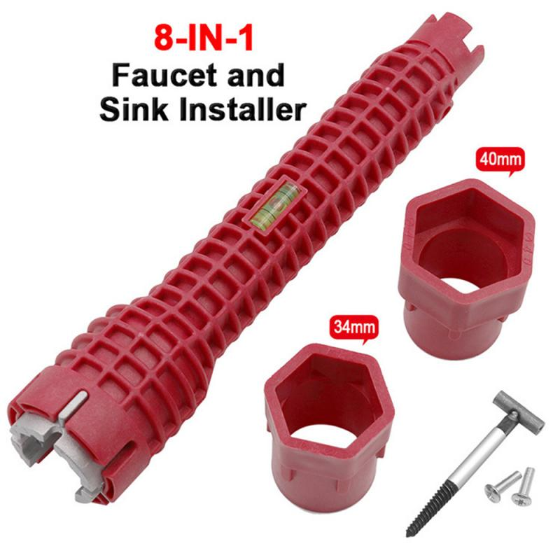 8 In 1 Kitchen Bathroom Faucet And Sink Installer Wrench
