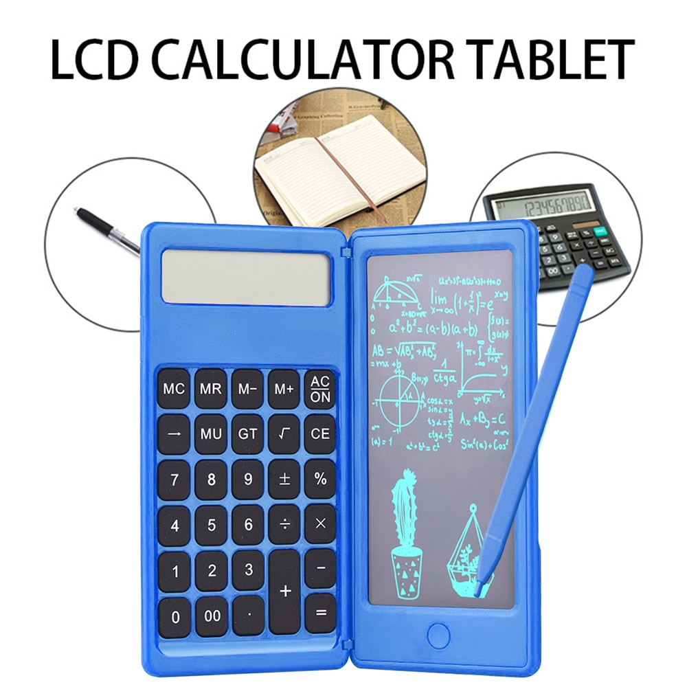 Foldable Calculator & 6 Inch LCD Writing Tablet 4