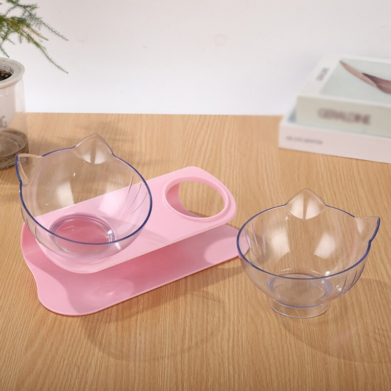 Non-slip Cat Bowls Double Bowls With Raised Stand 6