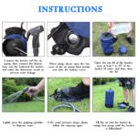 PVC Pressure Shower Bag with Foot Pump 4