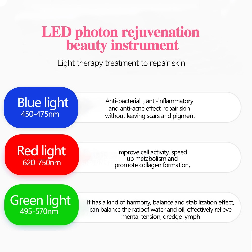 7 Colors Electric Facial LED Photon Light Therapy 4