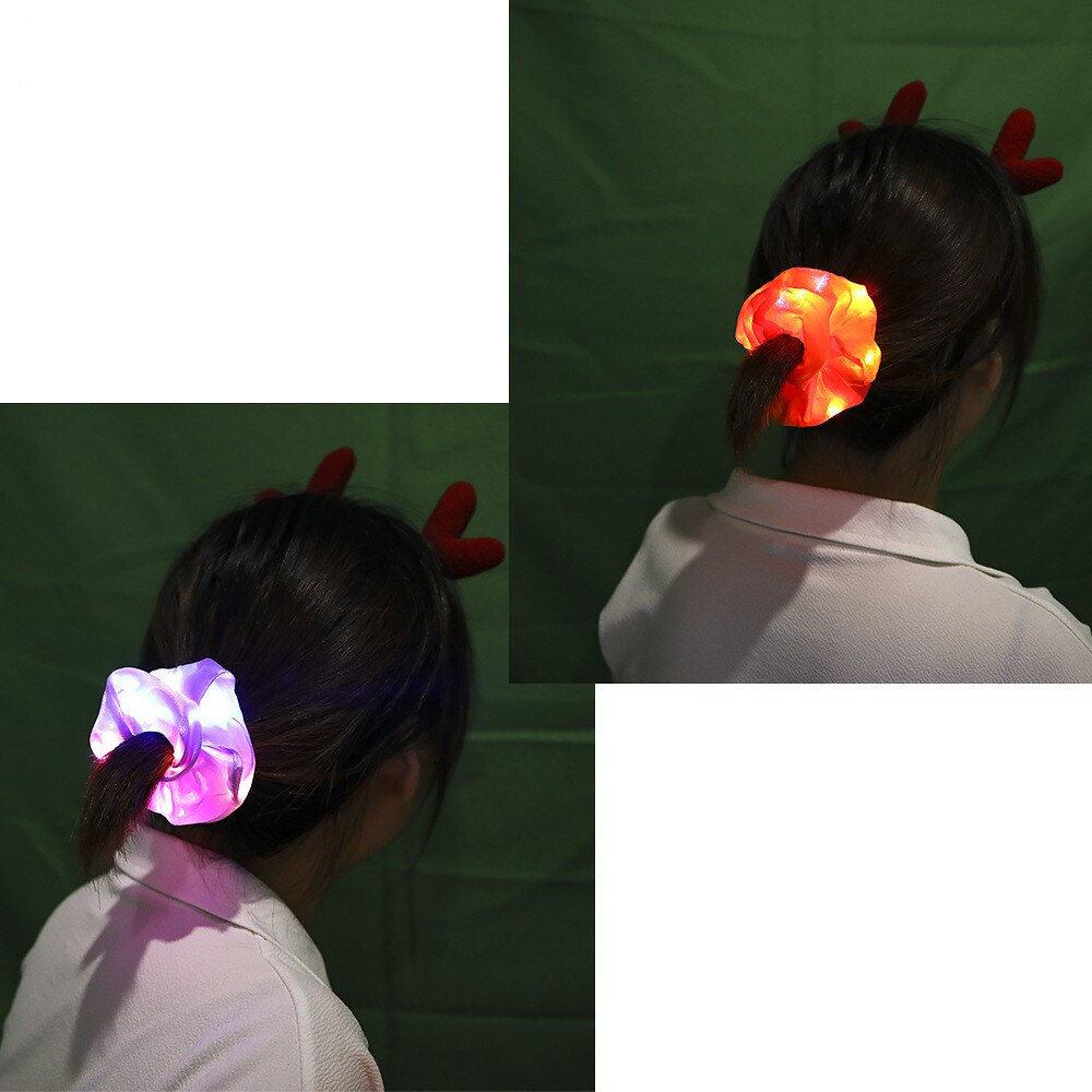 LED Mixed Color Hair Scrunchies For Woman 4