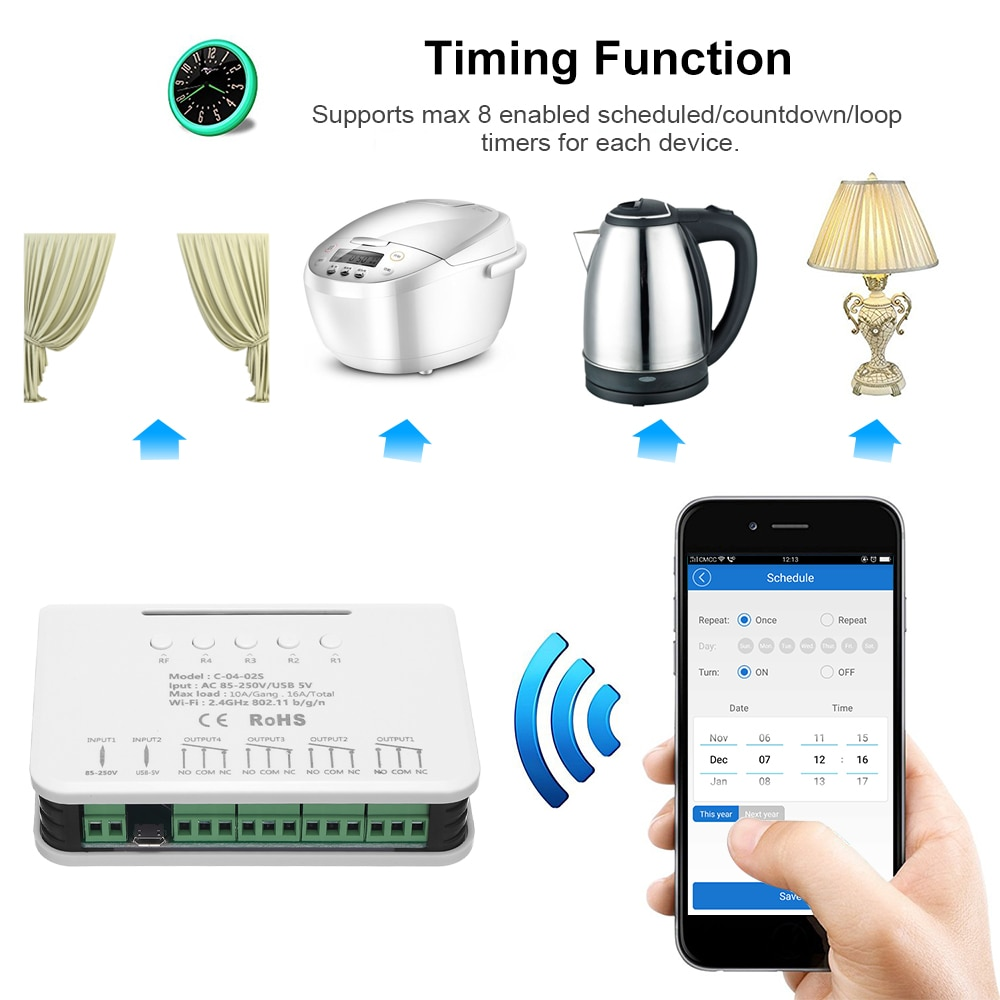 Ewelink Relay 4CH Smart Home Switch 2