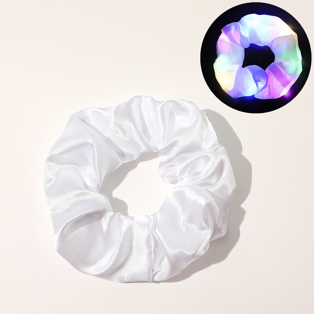 LED Mixed Color Hair Scrunchies For Woman 5