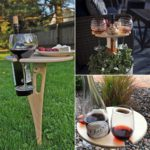 Foldable Outdoor Wine Table With Round Desktop 3