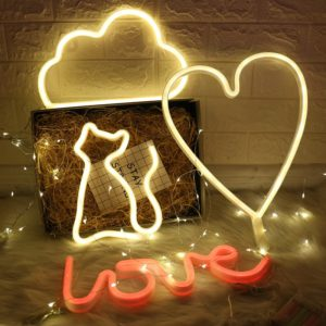 Wholesale LED Neon Night Light Sign Wall Art Sign Night Lamp Xmas Birthday Gift Wedding Party Wall Hanging Neon Lamp Home Decor 2