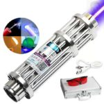 High Power Combustion Laser Powerful Blue Laser Torch 450nm 10000m Focusable Green Red Laser Torch 017 Series