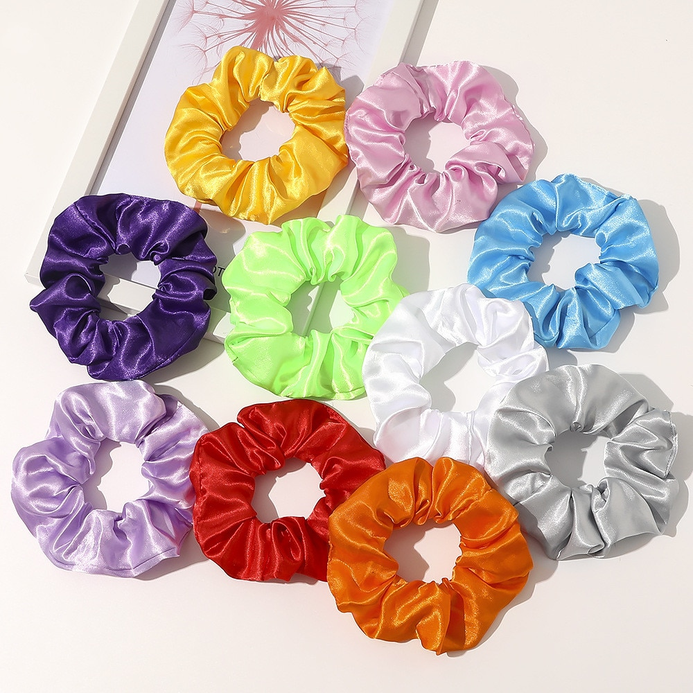 LED Mixed Color Hair Scrunchies For Woman 3