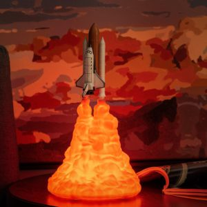 Space Shuttle Lamp and Moon lamps