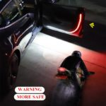 Car Interior Door Welcome Light LED Safety Warning Strobe Signal Lamp Strip 120cm Waterproof 12V Auto Decorative Ambient Lights 5