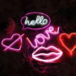 Wholesale LED Neon Night Light Sign Wall Art Sign Night Lamp Xmas Birthday Gift Wedding Party Wall Hanging Neon Lamp Home Decor 4