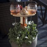 Foldable Outdoor Wine Table With Round Desktop 4
