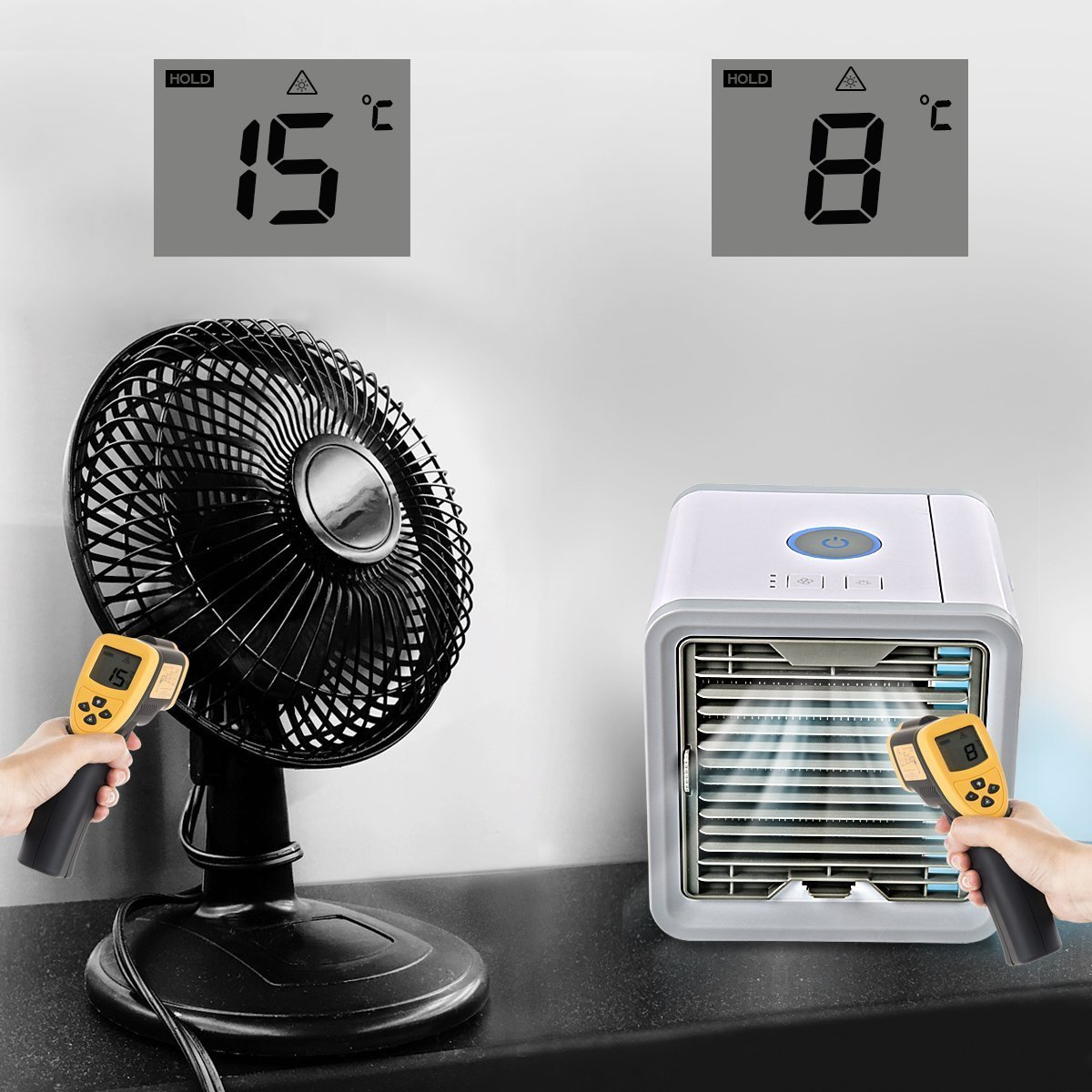 Air Conditioner USB Mini Cooling Fan With 7 Colors LED 2