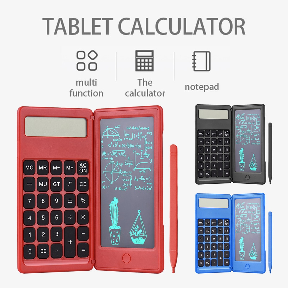 Foldable Calculator & 6 Inch LCD Writing Tablet 2