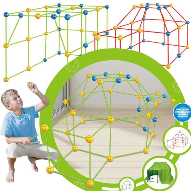 Kids Construction Toys Fort Tent Building Kits