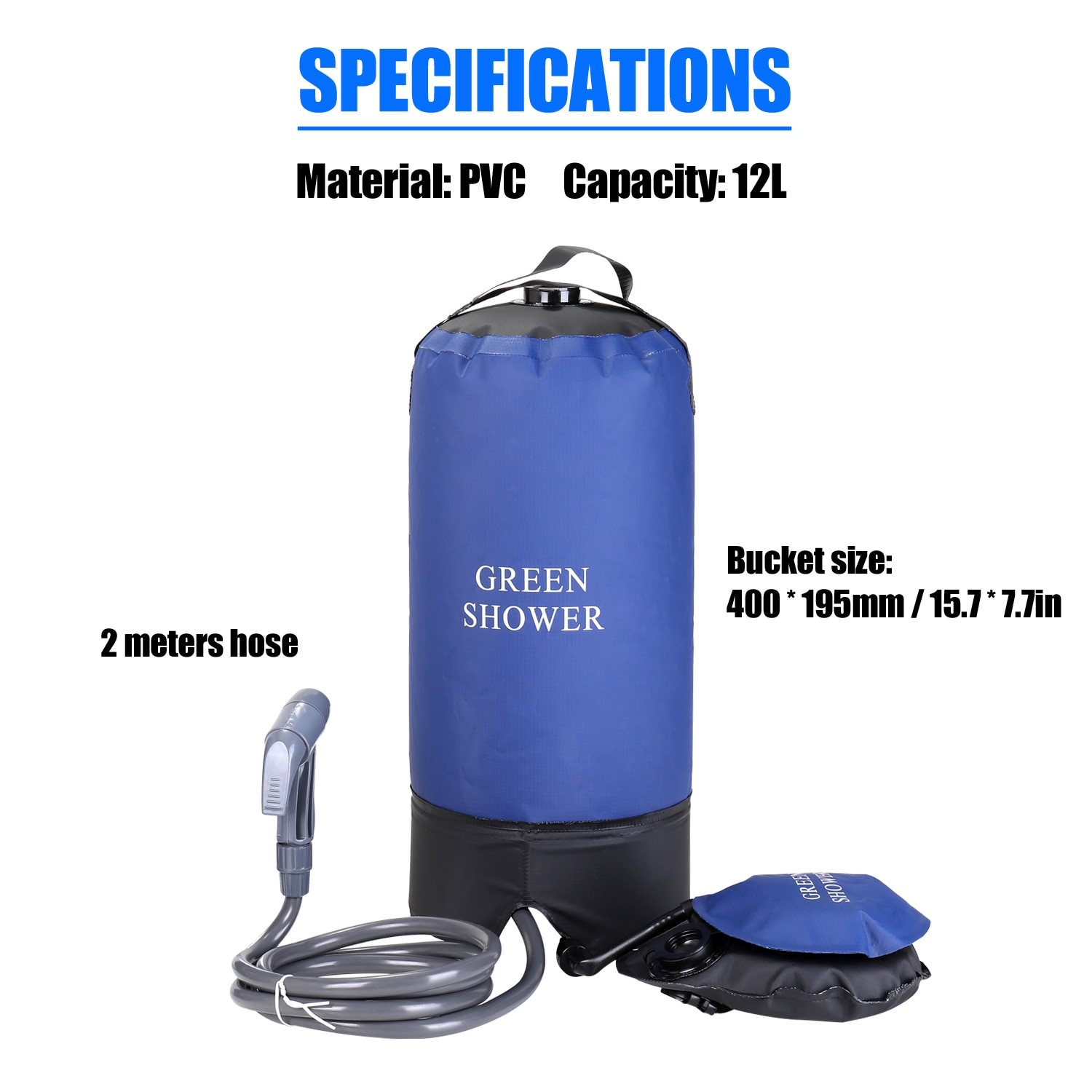 PVC Pressure Shower Bag with Foot Pump 2