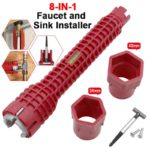 8 In 1 Kitchen Bathroom Faucet And Sink Installer Wrench 4