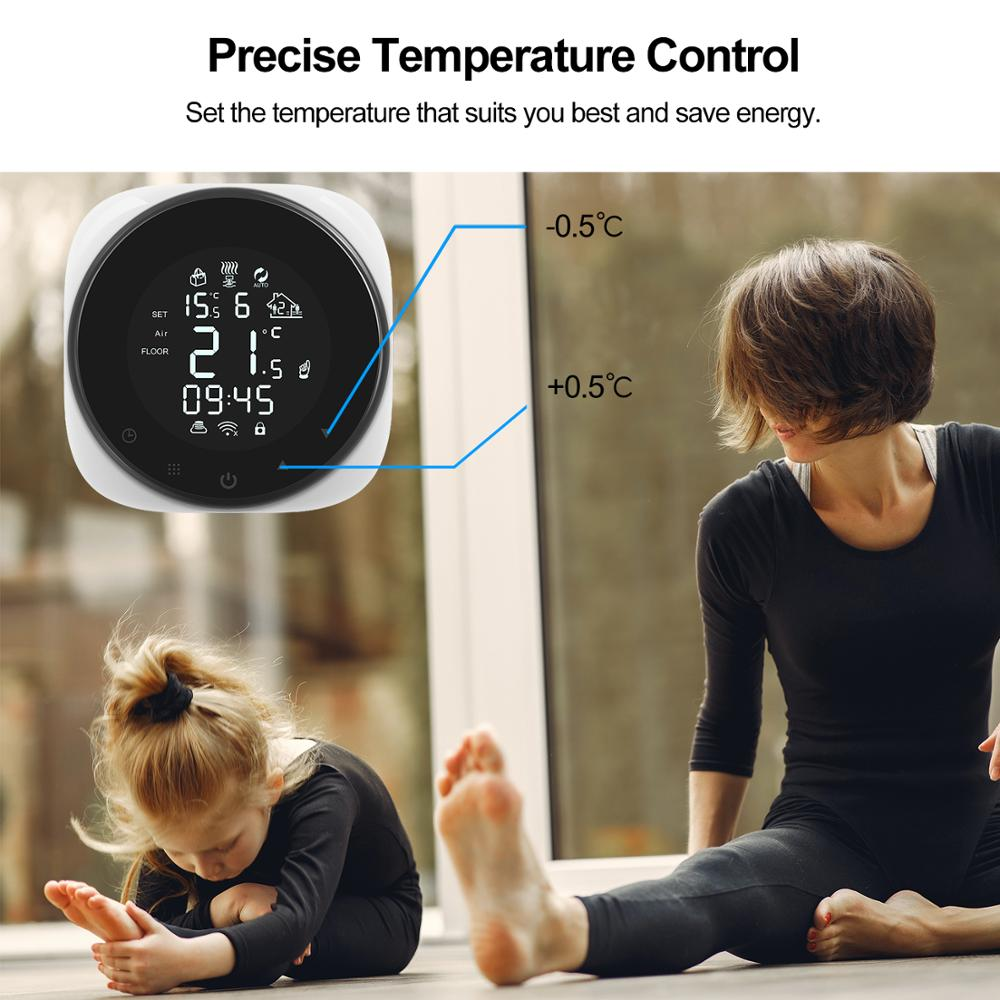 Tuya Smart Wifi Thermostat Temperature Controller for Heating/Water Gas Boiler 5