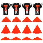 4pcs Wood Angle Clamps 60/90/120 Degrees Woodworking Corner ClampRight Clips DIY Fixture Hand Tool Set for Taper,T Joints,Plate 2