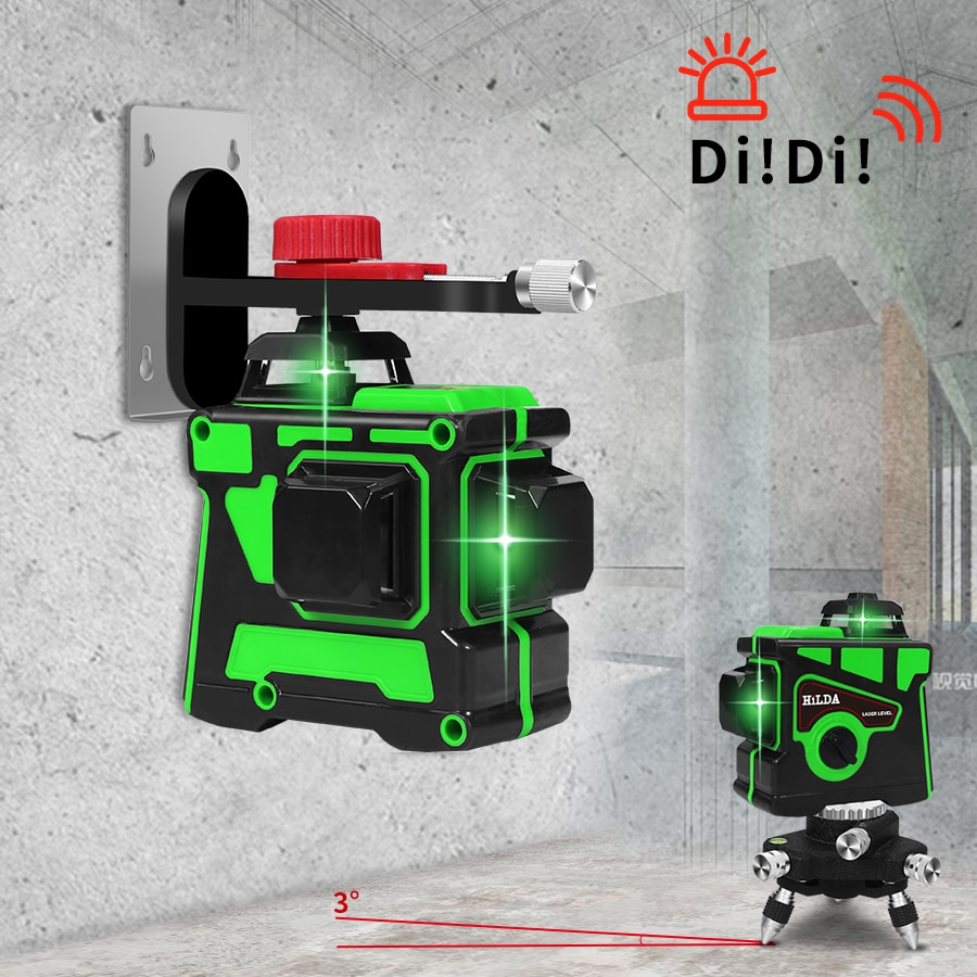 Laser Level 12 Lines 3D Self-Leveling 360 Horizontal And Vertical Cross Super Powerful Green Laser Beam Line 5
