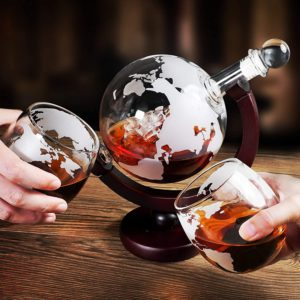 Creative Globe Decanter Set with Lead-free Carafe