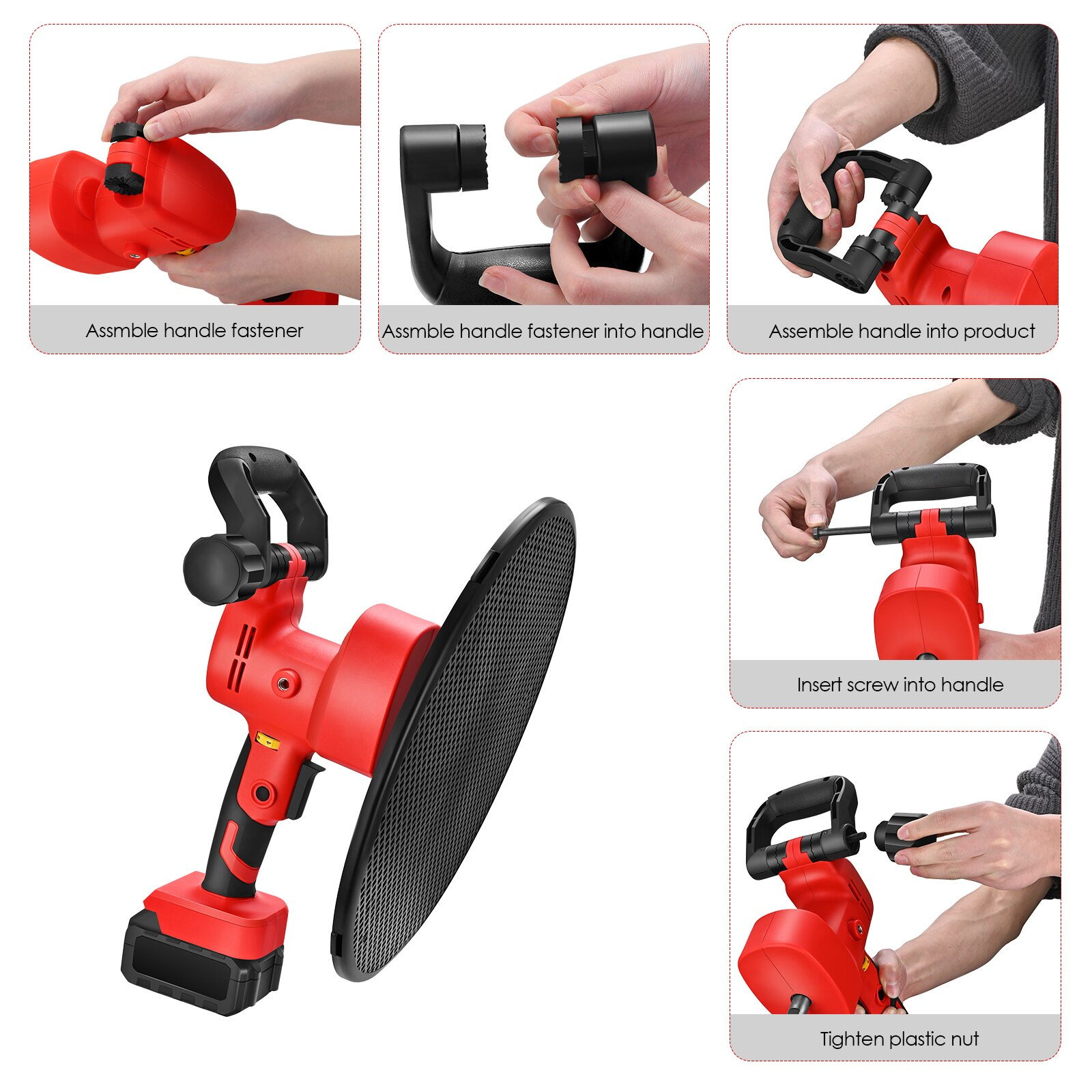2-in-1 machine 1-6 speed Adjustable Two-handle 6