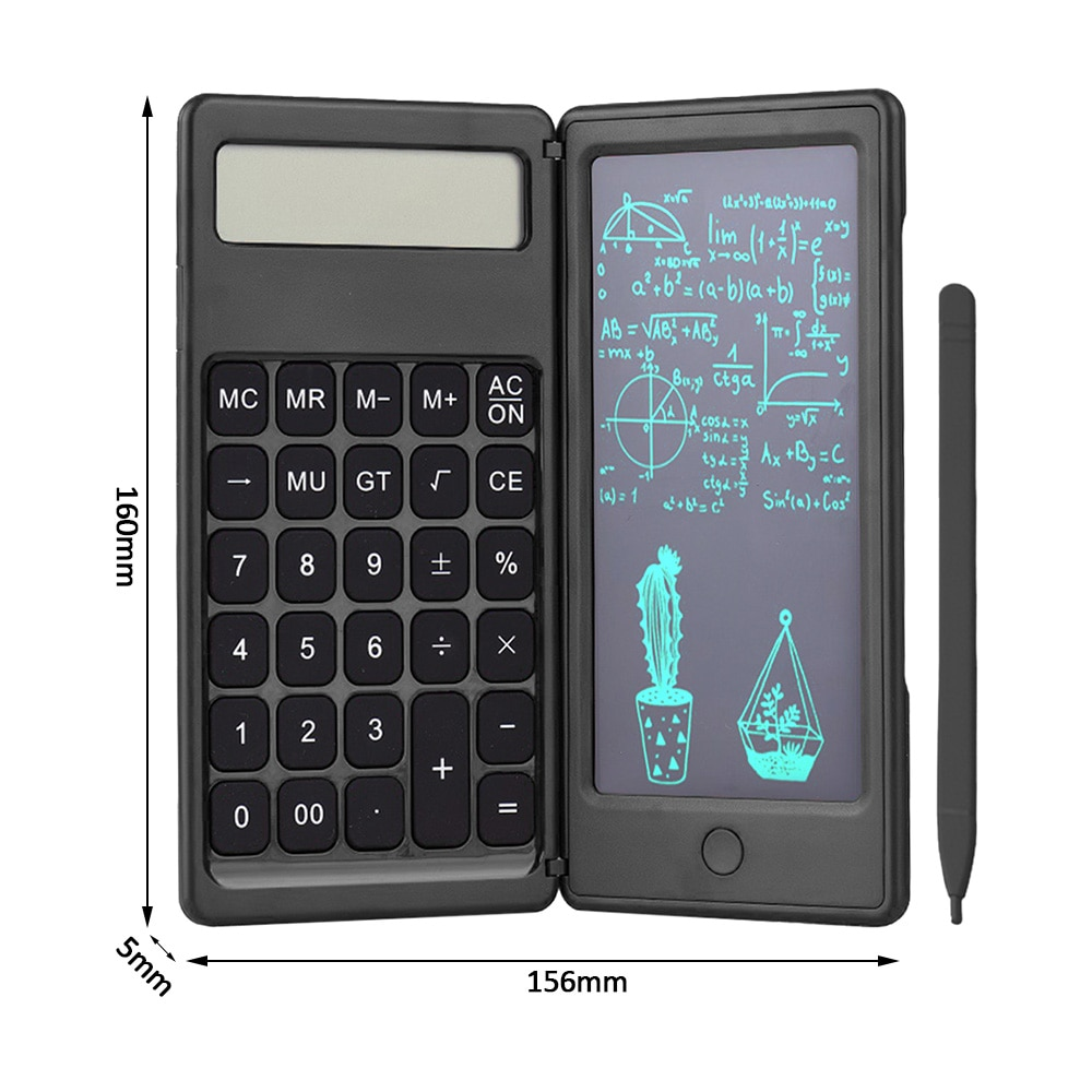 Foldable Calculator & 6 Inch LCD Writing Tablet 6