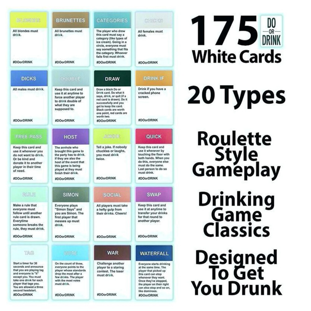 Board Games Drinking Card Game 5