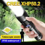Rechargeable LED Flashlight USB Torch